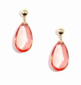 Jewelry Lucite Teardrop Earring Flame