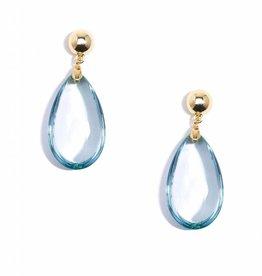 Jewelry Lucite Teardrop Earring Blue