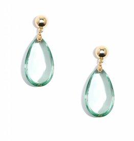 Jewelry Lucite Teardrop Earring Mint