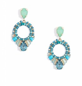 Jewelry Cutout Drop Earring Mint