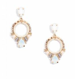 Jewelry Cutout Drop Earring Champagne