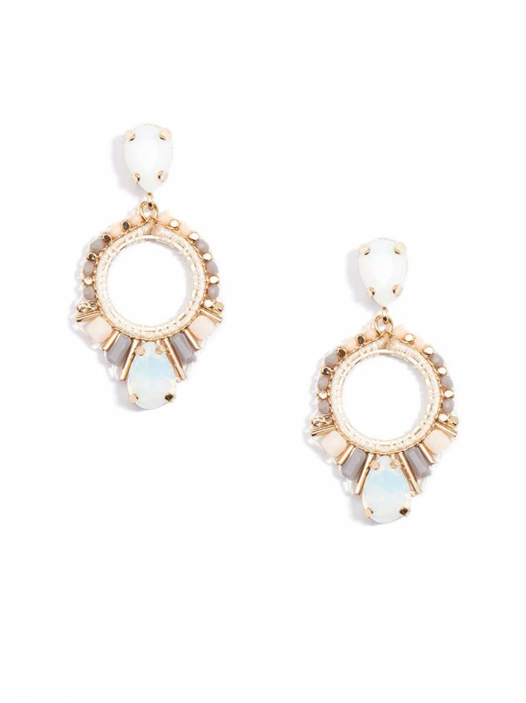 Jewelry Cutout Drop Earring Champagne