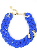 Jewelry Thick Link Necklace Cobalt