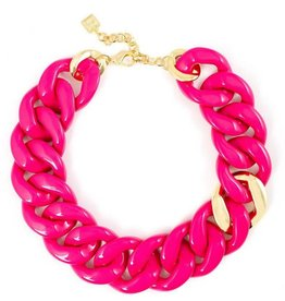 Jewelry Thick Link Necklace Pink