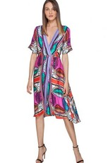 Hale Bob Greta Midi Wrap Dress