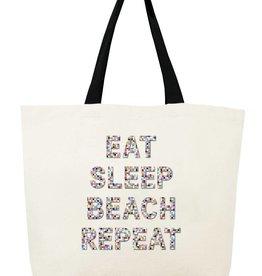 Fallon and Royce Eat Sleep Beach Repeat Confetti Tote