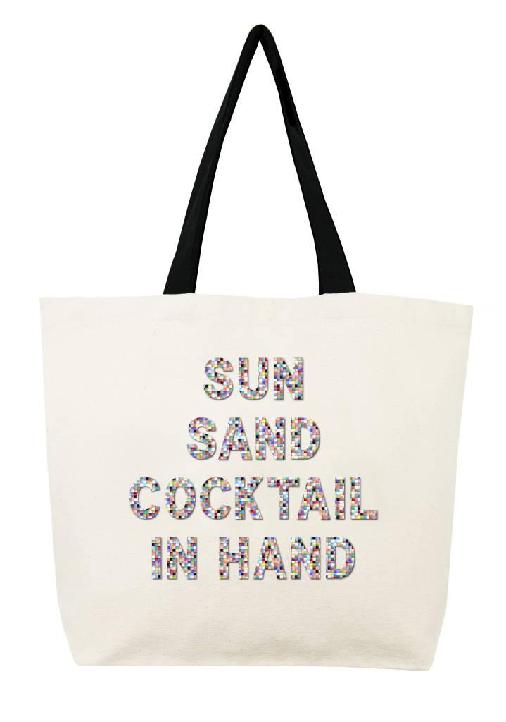 Fallon and Royce Sun Sand Coctail in Hand Confetti Tote