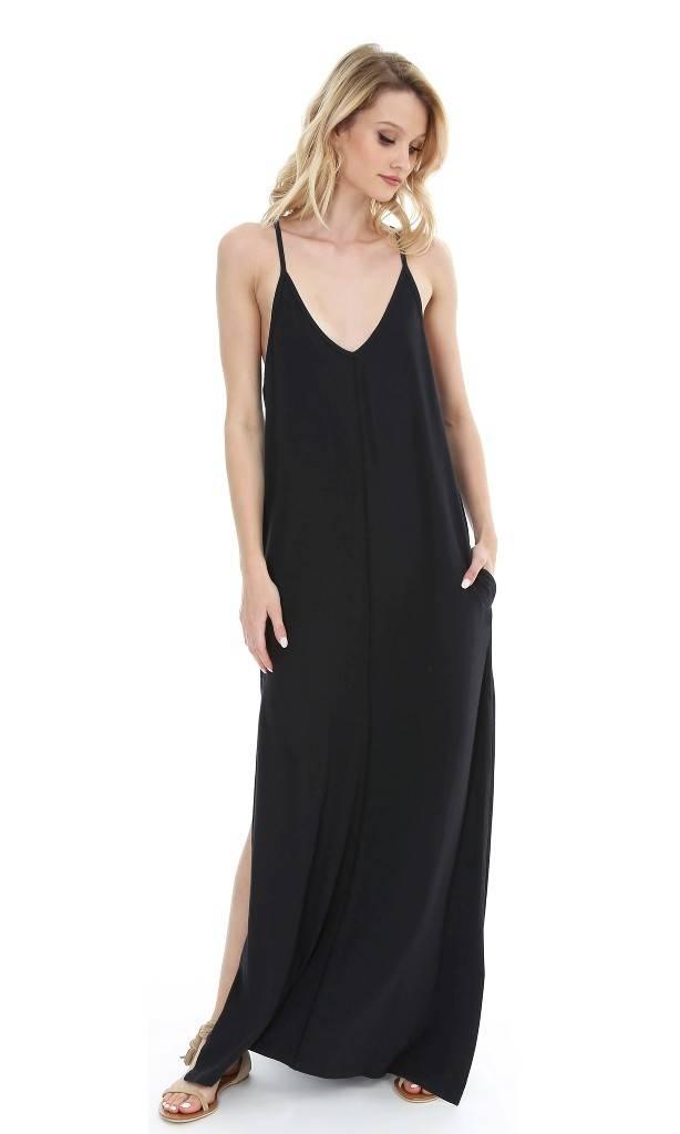 Bobi Cami Maxi Dress Black