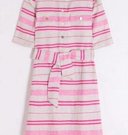 Vilagallo Sabine Stripe Dress Pink