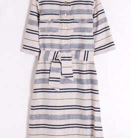 Vilagallo Sabine Stripe Dress Navy