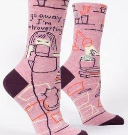Blue Q Womens Sock Go Away I'm Introverting