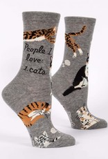 Blue Q Womens Sock People I Love...Cats