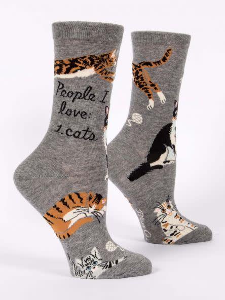 Blue Q Womens Sock People I Love...Cats