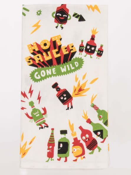 Blue Q Hot Sauces Gone Wild Dish Towel
