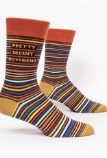 Blue Q Mens Sock Pretty Decent Boyfriend