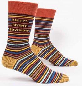 Blue Q Mens Sock Pretty Decent Boyfriend