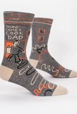 Blue Q Mens Sock Here Comes Cool Dad