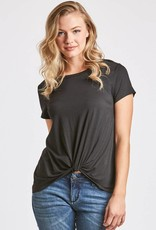 Another Love Julia Knot Front Tee Black