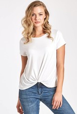 Another Love Julia Knot Front Tee White