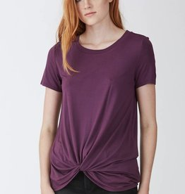 Another Love Julia Knot Front Tee Orchid