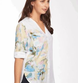 French Dressing FDJ Floral Print Blouse