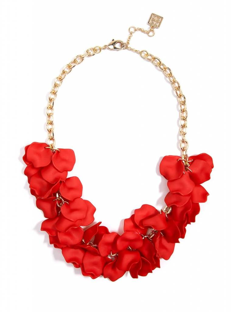 Jewelry Painted Petals Necklace Flame