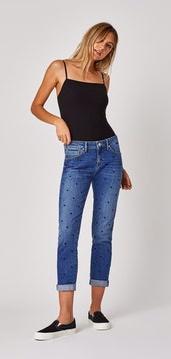 Mavi Jeans Ada Boyfriend Jean Indigo Dots
