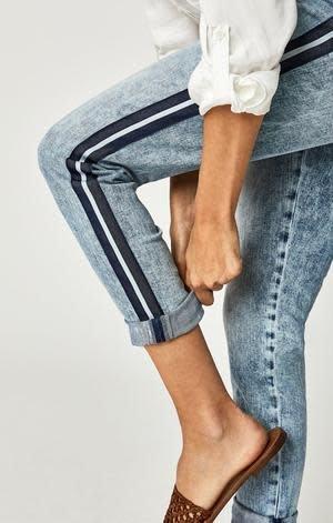 Mavi Jeans Ada Boyfriend Jean Indigo Stripes