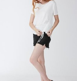 Another Love Trish Ruched Hem Tee White