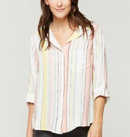 Velvet Heart Elisa Top Pink/Yellow Stripe