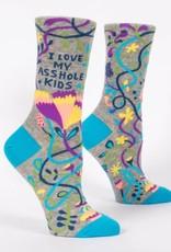 Blue Q Womens Socks I Love My Asshole Kids
