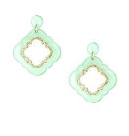 Jewelry Quatrefoil Drop Earring Mint