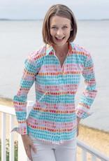Dizzy Lizzie Rome Shirt Chicklet Turq/Pink