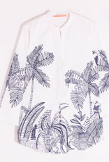 Vilagallo Martha Shirt Navy Palm