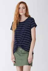 Another Love Another Love Julia Knot Front Tee Navy White