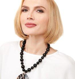 Jewelry Beaded Collar Necklace with Tortoise Pendant