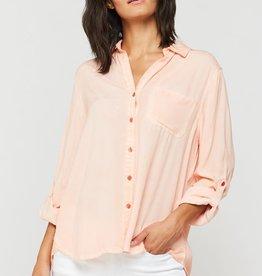 Velvet Heart Elisa Rolled Sleeve Shirt Dusty Peach