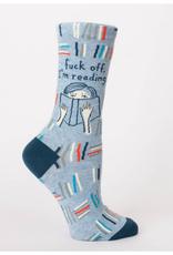 Blue Q Womens Sock F Off I'm Reading