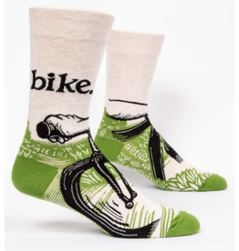 Blue Q Men's Socks Bike Path