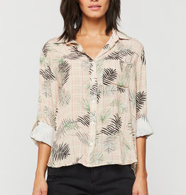 Velvet Heart Elisa Rolled Sleeve Shirt Palm