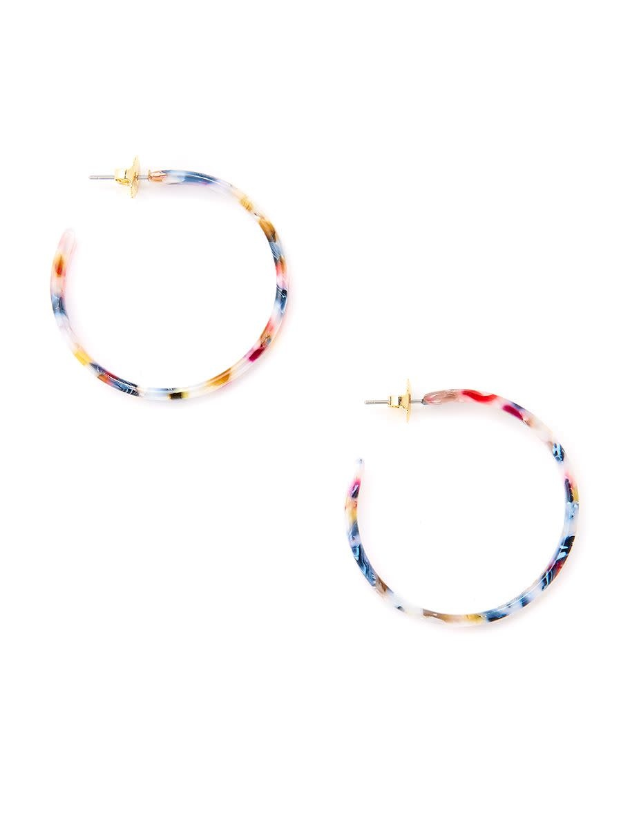 Jewelry Torti-Ful Hoop Earrings Berry