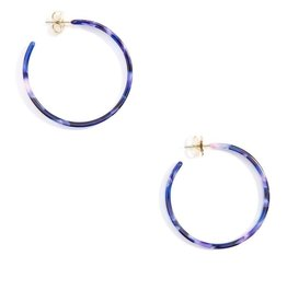 Jewelry Torti-Ful Hoop Earrings Navy