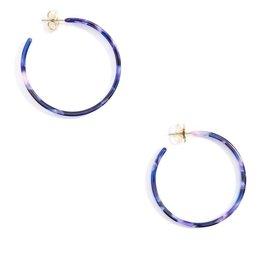 Jewelry Torti-Ful Hoop Earrings Navy