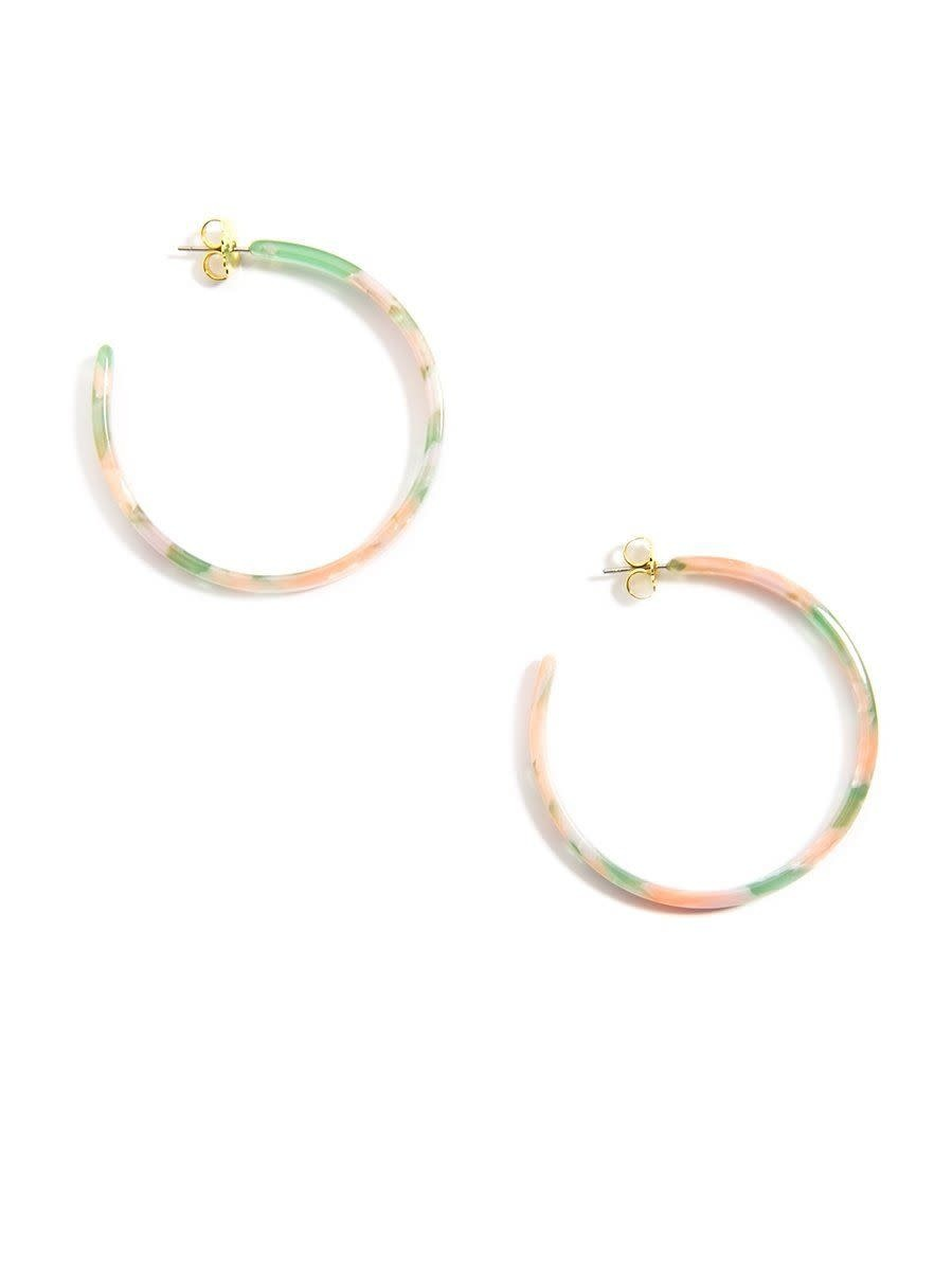 Jewelry Torti-Ful Hoop Earrings Pink