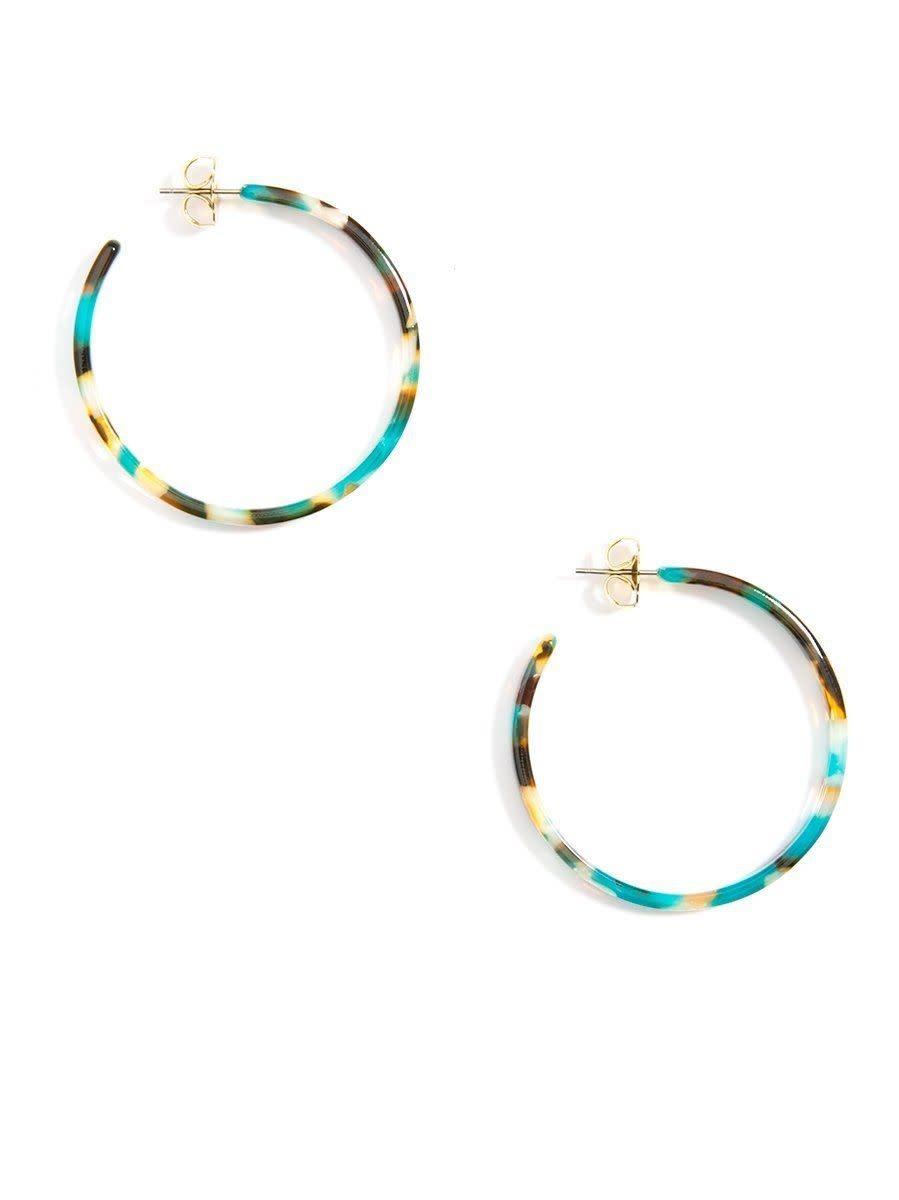 Jewelry Torti-Ful Hoop Earrings Teal