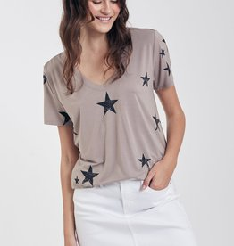 Another Love Another Love Cara Star V Neck Tee