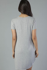 Another Love Hope Dress Side Knot Gray