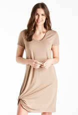 Another Love Hope Dress Side Knot Light Mocha
