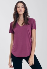 Another Love Another Love Valentina V Neck Tee Magenta