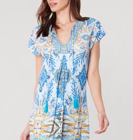 Hale Bob Coco Jersey Dress Blue